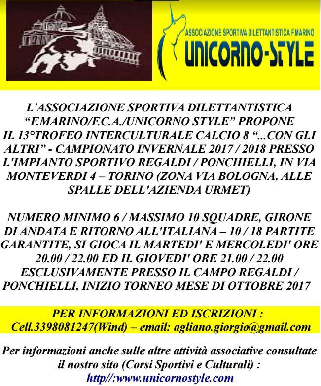 """13°TROFEO INTERCULTURALE CALCIO 8 """"...CON GLI ALTRI"""""""